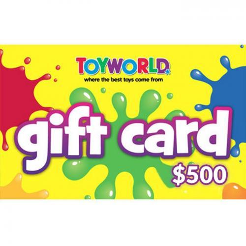 Toyworld Physical Gift Card $500 NZD 预付充值礼品卡,物理卡需快递,闪电发货!