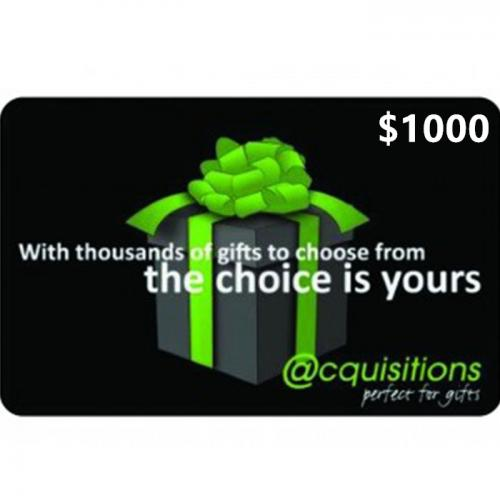 Acquisitions Physical Gift Card $1000 NZD 预付充值礼品卡,物理卡需快递,闪电发货!