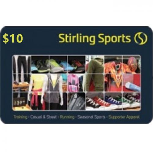 Stirling Sports Physical Gift Card $10 NZD 预付充值礼品卡,物理卡需快递,闪电发货!