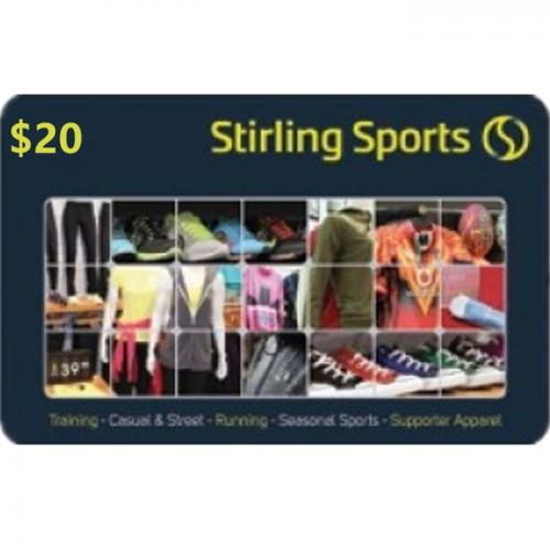 Stirling Sports Physical Gift Card $20 NZD 预付充值礼品卡,物理卡需快递,闪电发货!