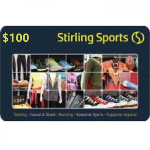 Stirling Sports Physical Gift Card $100 NZD 预付充值礼品卡,物理卡需快递,闪电发货!