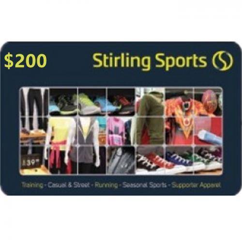Stirling Sports Physical Gift Card $200 NZD 预付充值礼品卡,物理卡需快递,闪电发货!