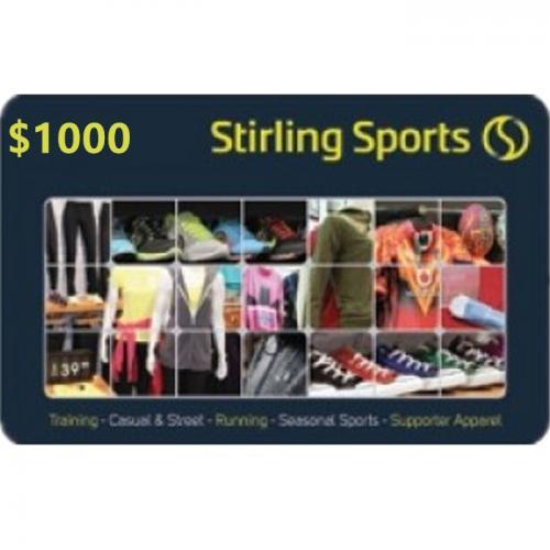 Stirling Sports Physical Gift Card $1000 NZD 预付充值礼品卡,物理卡需快递,闪电发货!