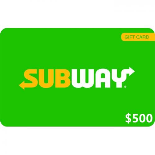 Subway Physical Gift Card $500 NZD 预付充值礼品卡,物理卡需快递,闪电发货!