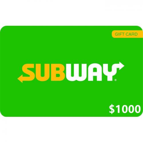 Subway Physical Gift Card $1000 NZD 预付充值礼品卡,物理卡需快递,闪电发货!
