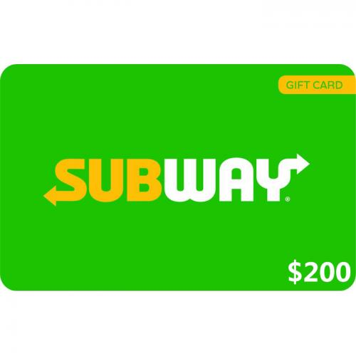 Subway Physical Gift Card $200 NZD 预付充值礼品卡,物理卡需快递,闪电发货!