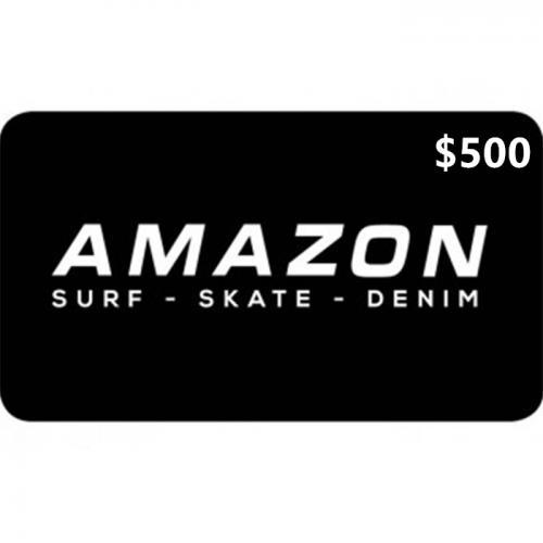 Amazon Surf Physical Gift Card $500 NZD 预付充值礼品卡,物理卡需快递,闪电发货!
