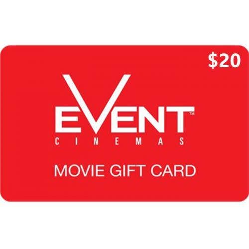 EVENT Cinemas Physical Gift Card $20 NZD 预付充值礼品卡,物理卡需快递,闪电发货!