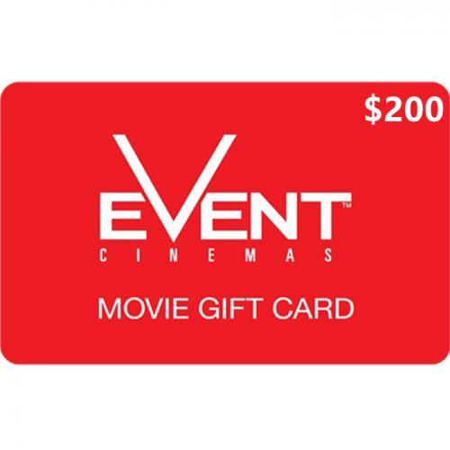 EVENT Cinemas Physical Gift Card $200 NZD 预付充值礼品卡,物理卡需快递,闪电发货!