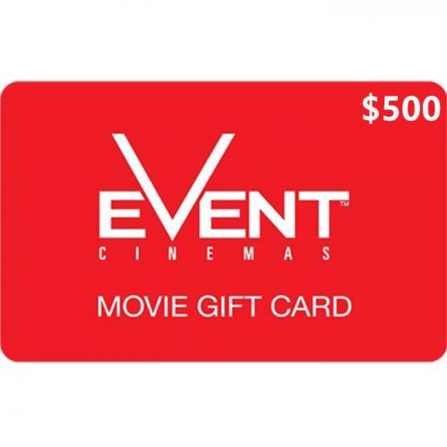 EVENT Cinemas Physical Gift Card $500 NZD 预付充值礼品卡,物理卡需快递,闪电发货!