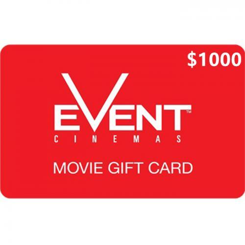 EVENT Cinemas Physical Gift Card $1000 NZD 预付充值礼品卡,物理卡需快递,闪电发货!