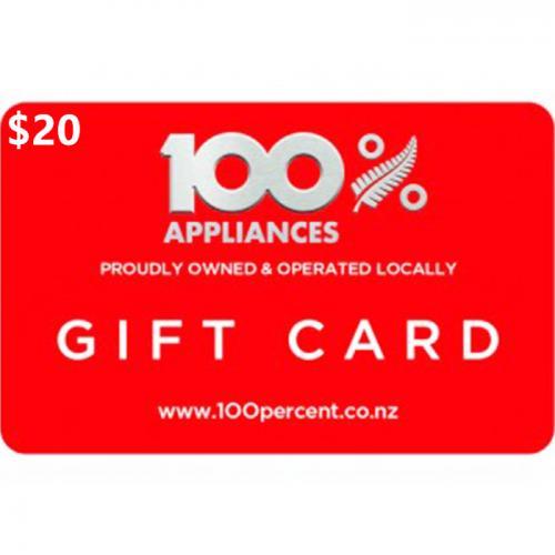 100% Appliance Physical Gift Card $20 NZD 预付充值礼品卡,物理卡需快递,闪电发货!