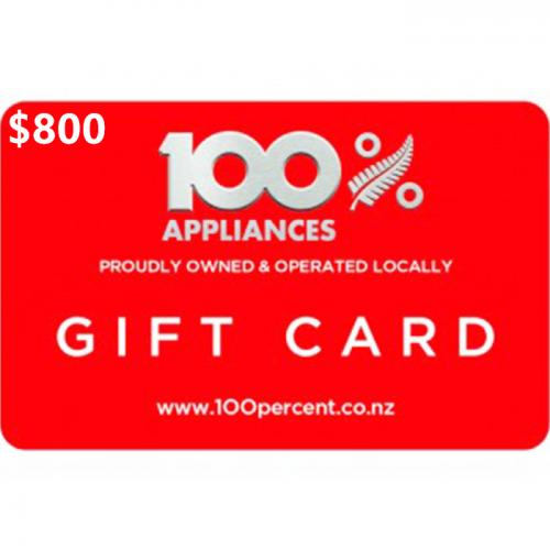 100% Appliance Physical Gift Card $800 NZD 预付充值礼品卡,物理卡需快递,闪电发货!
