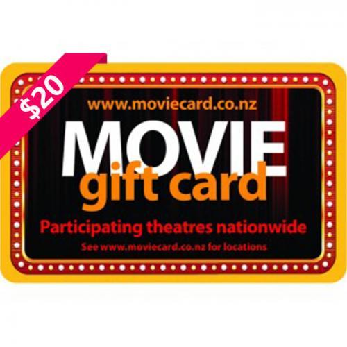 New Zealand Movie Physical Gift Card $20 NZD 新西兰本地影院通用预付充值礼品卡,物理卡需快递,闪电发货!