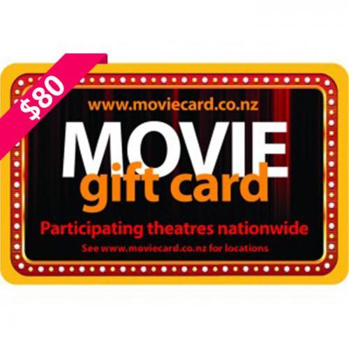 New Zealand Movie Physical Gift Card $80 NZD 新西兰本地影院通用预付充值礼品卡,物理卡需快递,闪电发货!