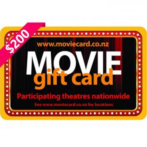 New Zealand Movie Physical Gift Card $200 NZD 新西兰本地影院通用预付充值礼品卡,物理卡需快递,闪电发货!