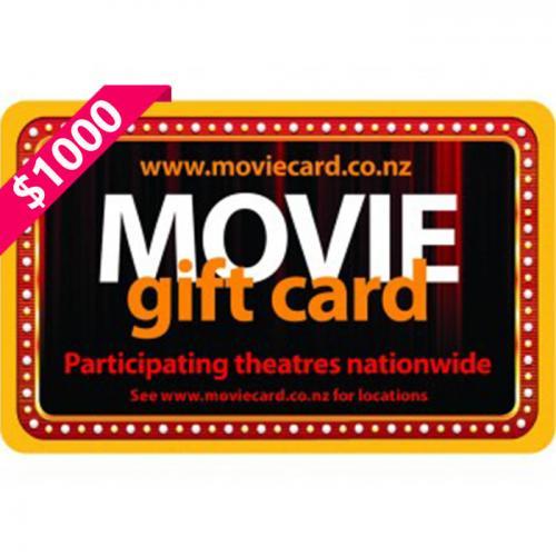 New Zealand Movie Physical Gift Card $1000 NZD 新西兰本地影院通用预付充值礼品卡,物理卡需快递,闪电发货!