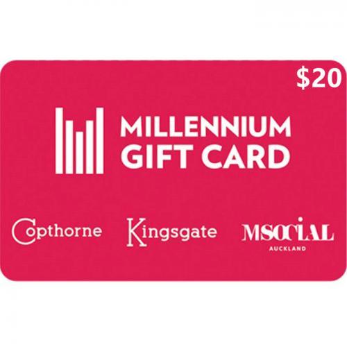 Millennium Hotels Physical Gift Card $20 NZD 预付充值礼品卡,物理卡需快递,闪电发货!