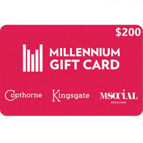 Millennium Hotels Physical Gift Card $200 NZD 预付充值礼品卡,物理卡需快递,闪电发货!