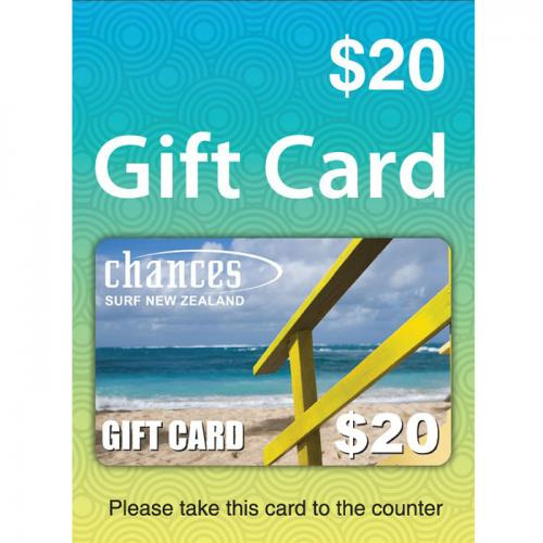 Chances Surf Physical Gift Card $20 NZD 预付充值礼品卡,物理卡需快递,闪电发货!