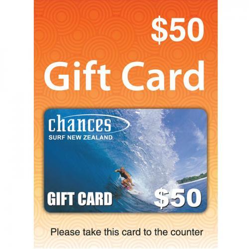 Chances Surf Physical Gift Card $50 NZD 预付充值礼品卡,物理卡需快递,闪电发货!