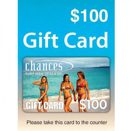 Chances Surf Physical Gift Card $100 NZD 预付充值礼品卡,物理卡需快递,闪电发货!