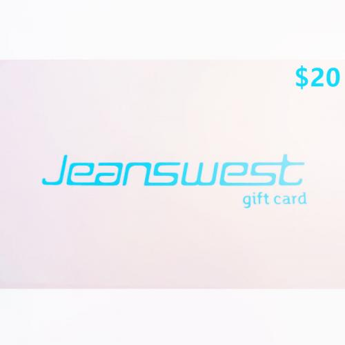 Jeanswest Physical Gift Card $20 NZD 预付充值礼品卡,物理卡需快递,闪电发货!