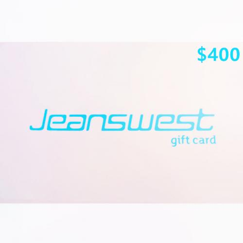 Jeanswest Physical Gift Card $400 NZD 预付充值礼品卡,物理卡需快递,闪电发货!