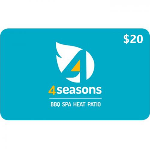 4 Seasons Home & Leisure Physical Gift Card $20 NZD 预付充值礼品卡,物理卡需快递,闪电发货!