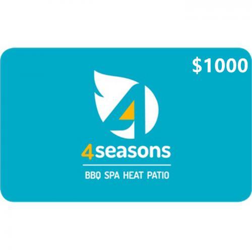4 Seasons Home & Leisure Physical Gift Card $1000 NZD 预付充值礼品卡,物理卡需快递,闪电发货!