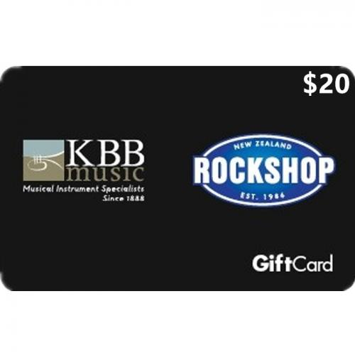 Rockshop Physical Gift Card $20 NZD 预付充值礼品卡,物理卡需快递,闪电发货!