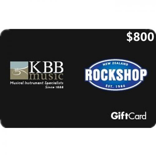 Rockshop Physical Gift Card $800 NZD 预付充值礼品卡,物理卡需快递,闪电发货!