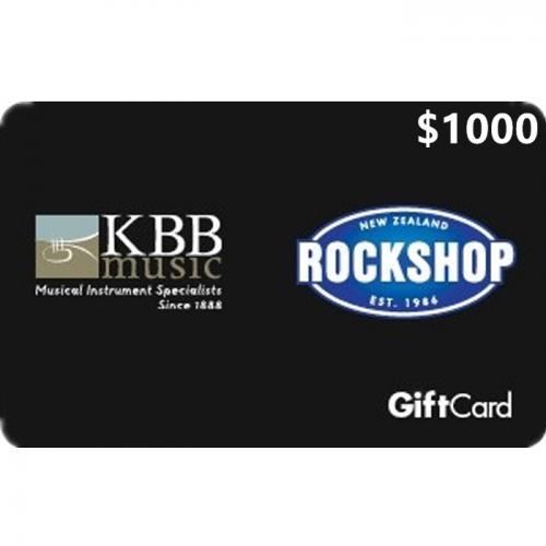 Rockshop Physical Gift Card $1000 NZD 预付充值礼品卡,物理卡需快递,闪电发货!