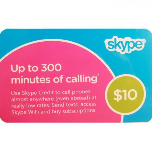 Skype Credit Digital Prepaid Gift Card $10 NZD 数字预付充值礼品卡,虚拟卡免快递,E-Mail邮件秒收货!
