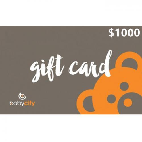 Baby City Physical Gift Card $1000 NZD 预付充值礼品卡,物理卡需快递,闪电发货!
