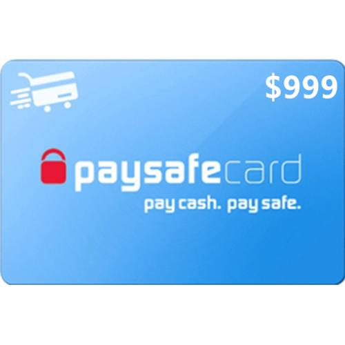 Paysafecard Digital Prepaid Gift Card $999 NZD 数字预付充值礼品卡,虚拟卡免快递,E-Mail邮件秒收货!