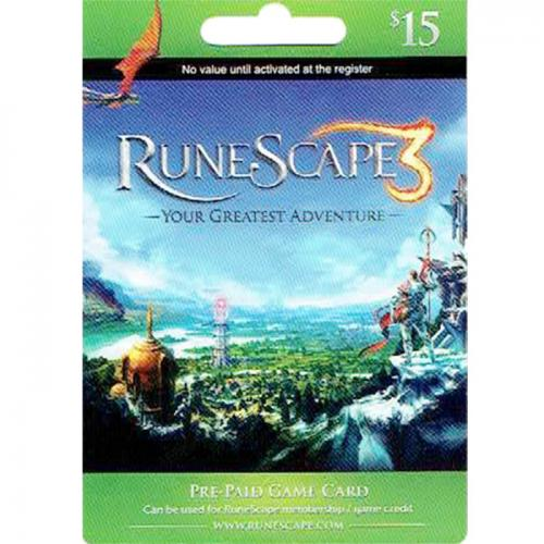Runescape 3 Game $15 NZD Prepaid Digital Gift Card 数字预付充值游戏礼品卡,虚拟卡免快递,E-Mail邮件秒收货!