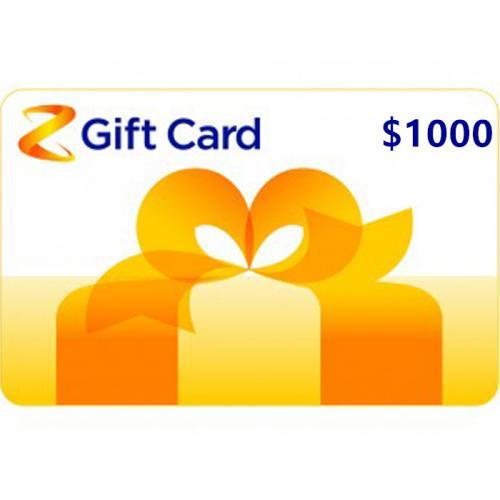 Z Energy Physical Gift Card $1000 NZD 预付充值礼品卡,物理卡需快递,闪电发货!
